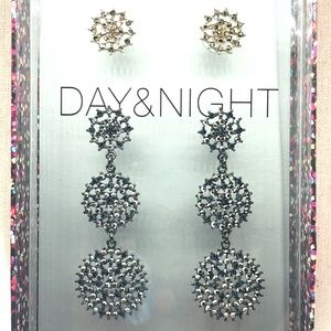 INC Earring Set Sparkly Date night Day & Night